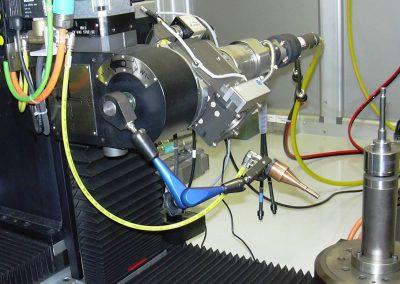 Winkelpositionierungstisch und Laserschweißoptik