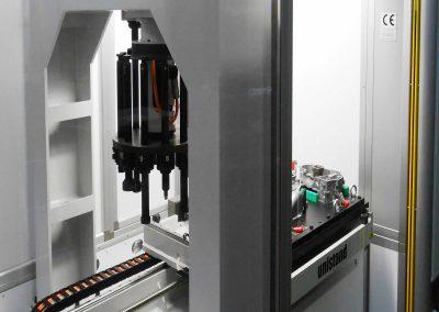 Universelles CNC-Pflanzzentrum mit zwei gegenüberliegenden Pressen in fester vertikaler Position